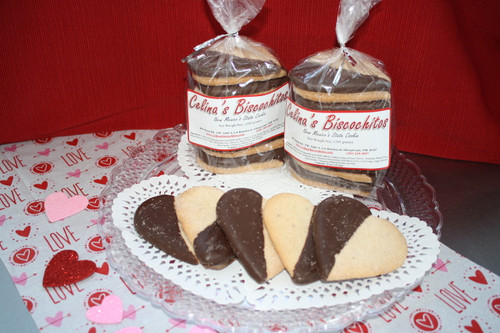 Chocolate Dipped Valentine's Day Hearts