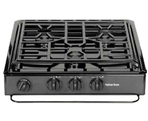 Stove; Cooktop; Black; Piezo Ignition Type; Sealed Burners; Single