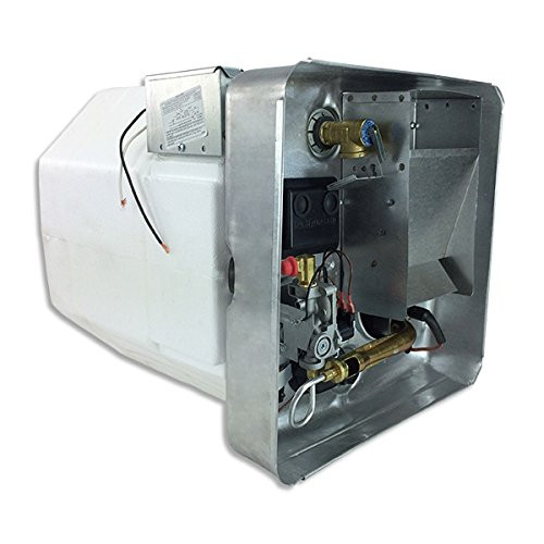 Water Heater; Electric; Model Number SW12DE; 12 Gallon; Direct Spark Ignition; 12000 BTU; 16-7/32 Inch Height x 16-7/32 Width x 22-1/4 Inch Depth