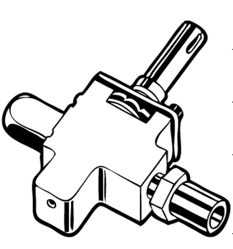 Stove Burner Valve; For Suburban Stove SD3