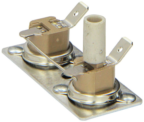 Water Heater Thermostat Switch; For SW Series Suburban Water Heater; Hi-Limit; 12 Volt; With Reset Switch; 130 Degree