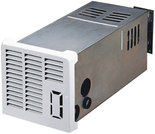 Furnace; NT-SEQ Series; LP; Model Number NT-20SEQ; 19,000 BTU; Direct Discharge; 9-3/8 Inch Width x 9-1/2 Inch Height x 22-1/2 Inch Depth; 45.21 Pounds; With Automatic Direct Spark Ignition