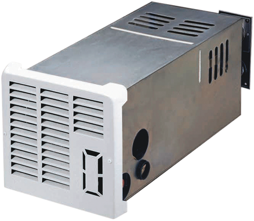 Furnace; LP; Model Number NT-16SEQ; 16000 BTU; Optional Side Duct; 2.8 Amp Draw; 9-3/8 Inch Width x 9-1/2 Inch Height x 21-1/8 Inch Depth; Electronic Ignition; Gasket Sealed Vent Assembly; Without Access Door