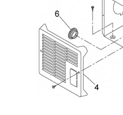 Furnace Access Door; For Suburban Furnace NT12SE/ NT16SE/ NT16SEQ/ NT20SE/ NT20SEQ; Polar White