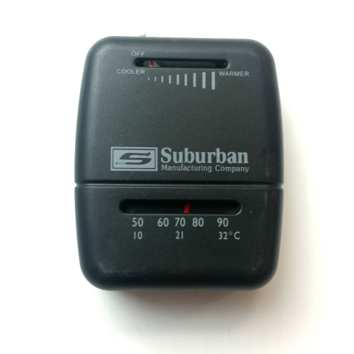 Wall Thermostat; Heat; Not Programmable; Mechanical Readout; Black