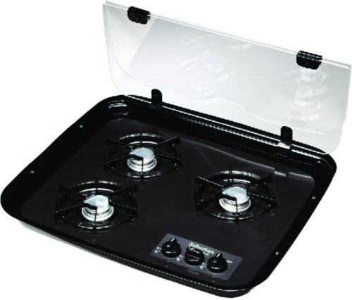 Stove Top Cover; Fits Suburban Three Burner Stove; Glass