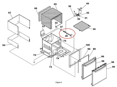 Stove Oven Burner; For Suburban Stove Oven SRNA3/ SRSA3