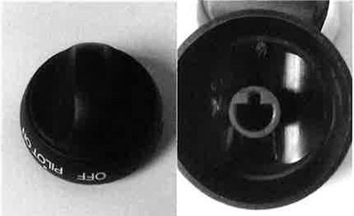 Stove Control Knob; Replacement Knob For SRNA3/ SRSA3(Above Serial No. 092904956); Oven Knob; Black