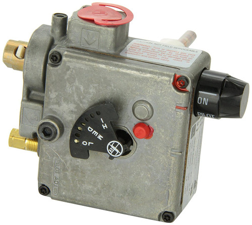 Water Heater Gas Valve; For Suburban Water Heater SW6P (After Serial Number 962802561) SW10P (After Serial Number 95360121); 3/8 Inch NPT Inlet x 1/4 Inch Loxit Outlet