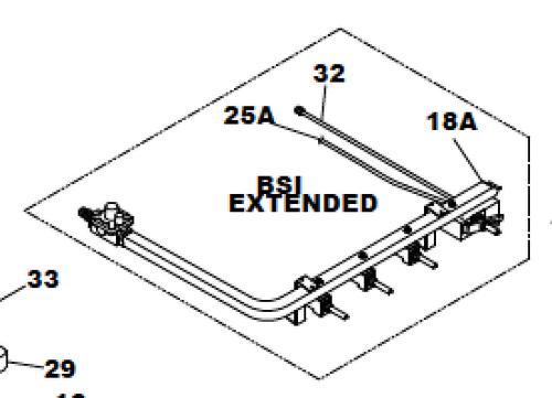 """Suburban 521152 Cooktop Manifold Kit (22"""" BSI)"""