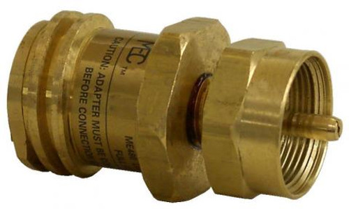 Marshall Excelsior Propane Adapter Fitting (20LB to 1 LB) ME480P