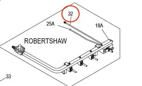 Suburban Range Robertshaw Orifice Holder/Oven Tube Assembly (521089) Short Oven