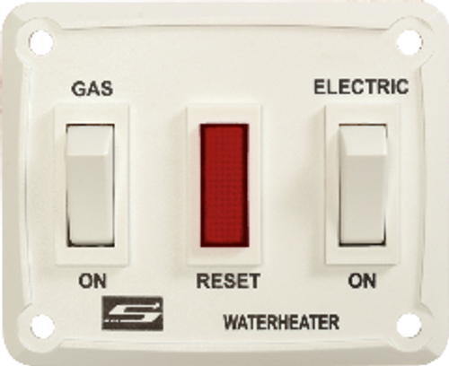Water Heater Power Switch; For Suburban Gas-Electric Water Heaters; Wall Mount; White; With Reset Button