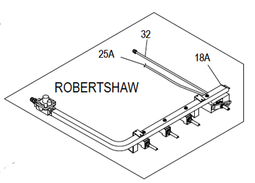 Robertshaw Extended Manifold Kit Sealed with Brushed Nickel Thermostat Knob