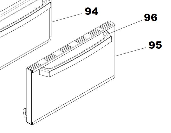 Suburban Oven Door with Glass (031475) 17 inch