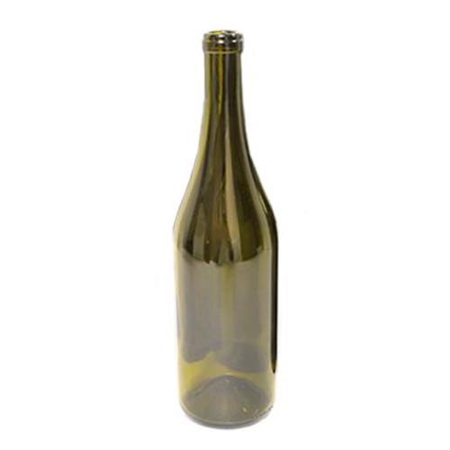 Antique Green Punted Burgundy Bottle 750ml - 12 ct