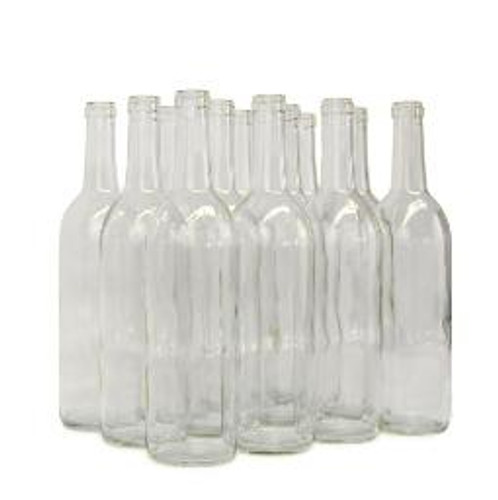 Wine Bottle Clear 750ml Bordeaux (12ct)