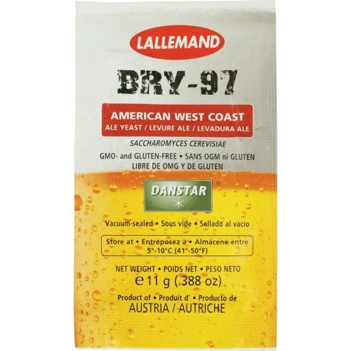 Lallemand BRY-97 West Coast Dry Ale Yeast 11g