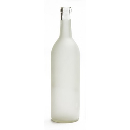 White Frosted Bordeaux Bottle 750ml - 12 ct