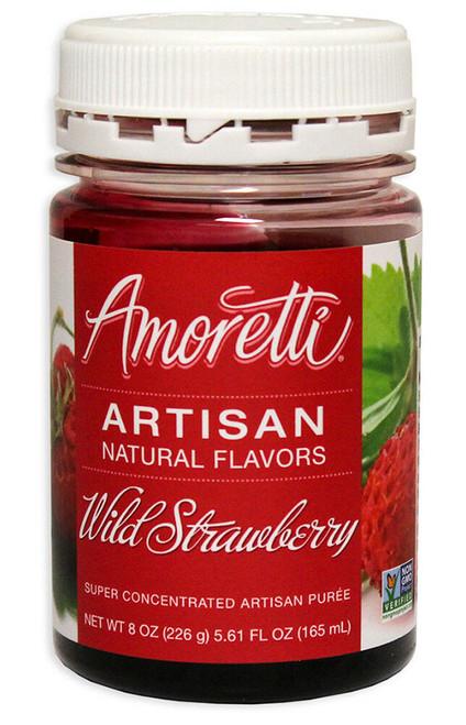 Wild Strawberry Amoretti Artisan Fruit Puree 8oz
