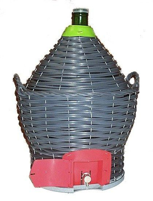 USED 34 Liter Glass Demijohn ~9 Gallon WITH SPIGOT