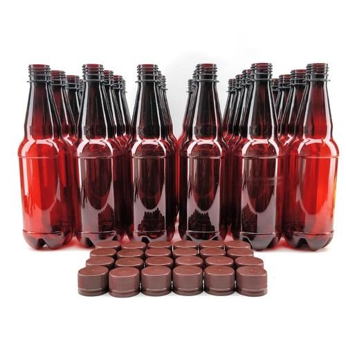 PET Beer Bottle 500mL w/ caps (24ct)