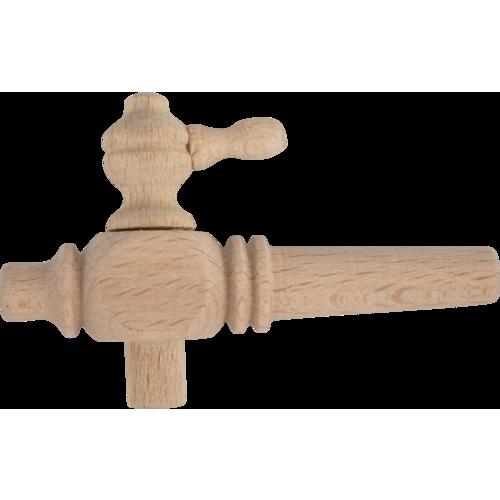 "Wooden Barrel Spigot - 4"""