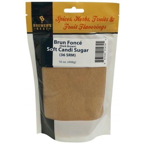 Belgian Soft Candi Sugar Dark Brown 1lb