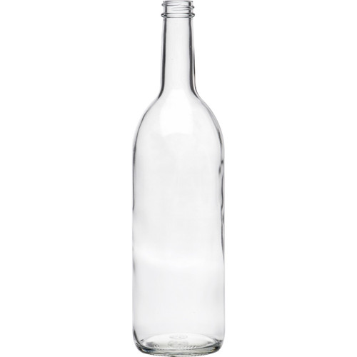 Wine Bottle Clear 28mm Screw Cap 750ml (12ct)