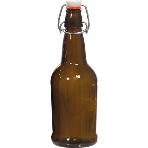 E.Z. Cap Swing Top Bottle Amber 16oz (12ct)