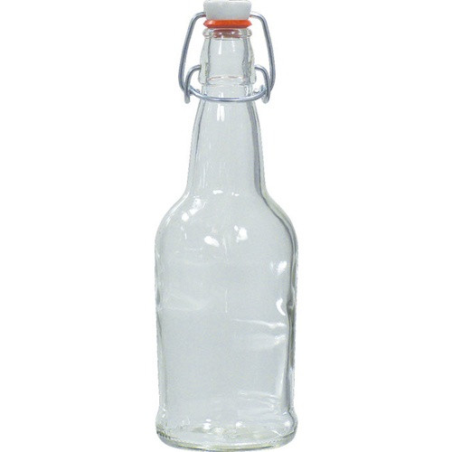 E.Z. Cap Swing Top Bottle Clear 16oz each