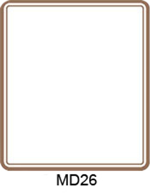 Gold Border Labels - 30 ct (MD26)