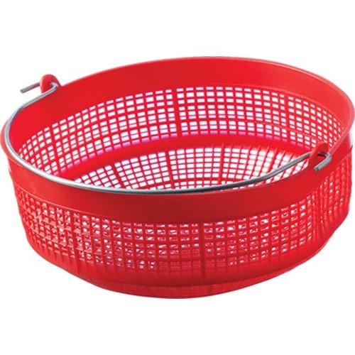 Plastic Must Basket - red w/ handle