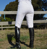 Unicorn Ladies White High Waisted Active Silicone Grip Full Seat Breeches