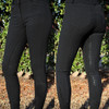 Ladies Silicone Breeches Mid Waist Black
