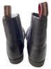 front zip boots brown