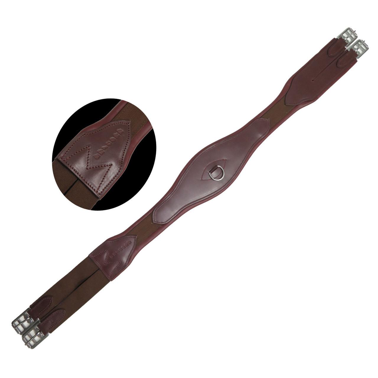 Unicorn Brown Overlay Leather Girth