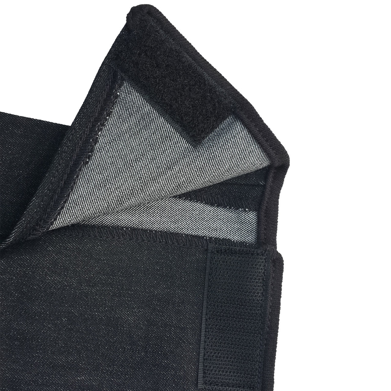 Black Denim Contrast Clarino Full Seat Ladies Horse Riding Breeches