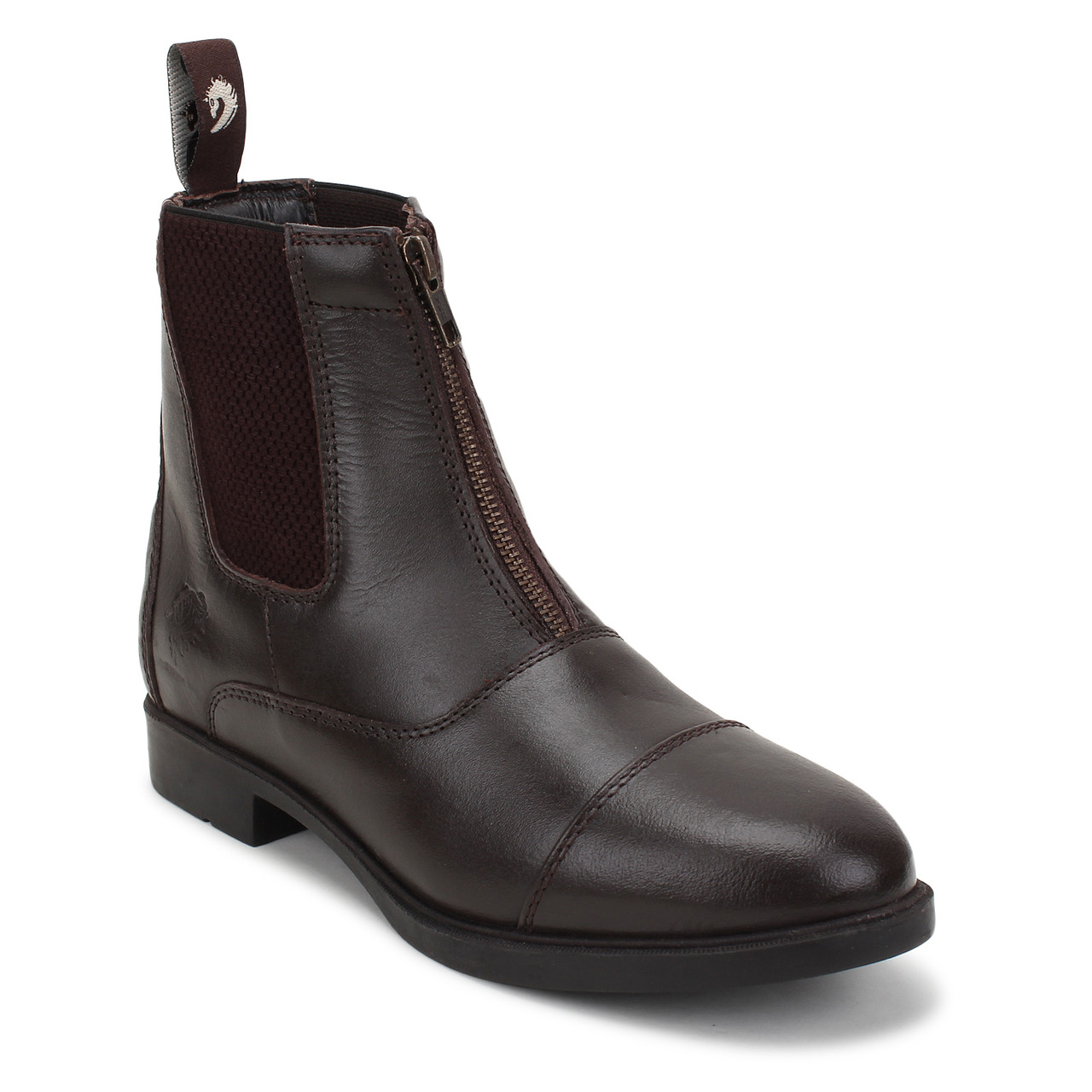 Front Zip Dark Brown Riding Jodhpurs Boots