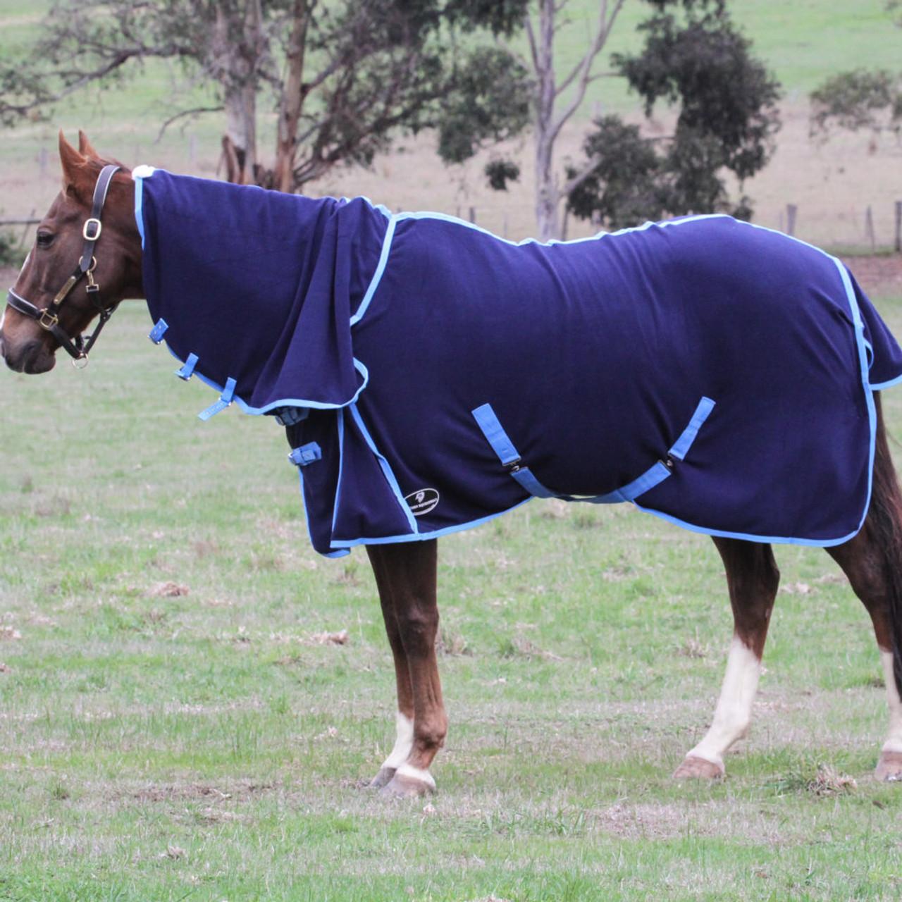 navy fleece combo horse rug