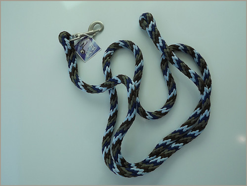 Blue White Grey jumbo whisper lead rope