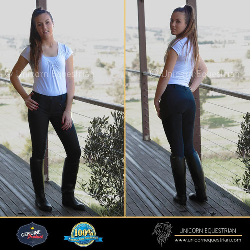 Full Leather Seat Navy Breeches