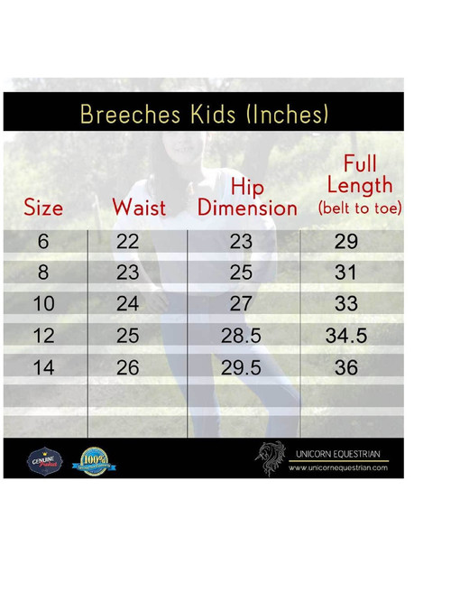 Denim Look Black Super Stretchy Kids Jodhpurs