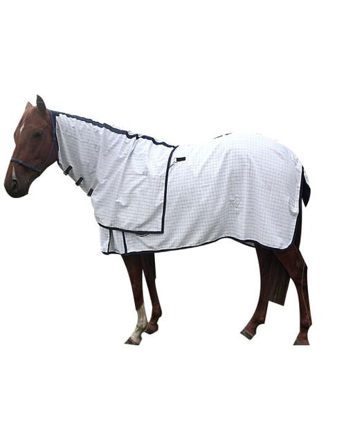 Reliance Cotton Ripstop Horse Rug And Detach a Neck Blue Check