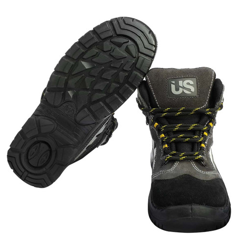 Workhorse Mens Work Safety Boots With Steel Toe & Puncture Resistant Midsole