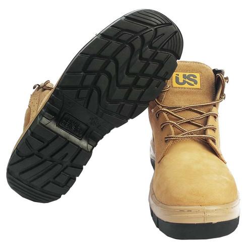 Ranger Mens Nubuck Leather Steel Toe Work Boots