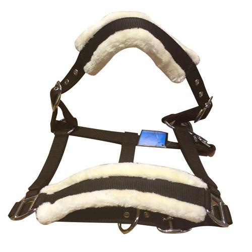 Beige & Brown Mink Padded Horse Head Collar