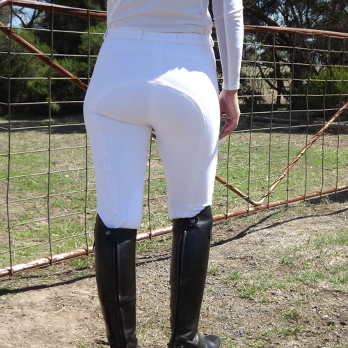 Ladies Classic Plain White Jodhpurs