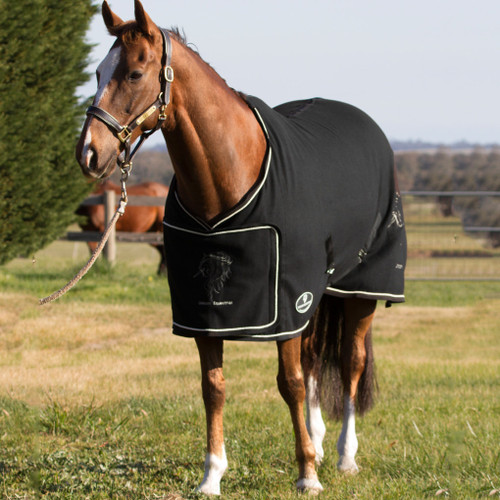 Black Fleece Drill Show Horse Rug