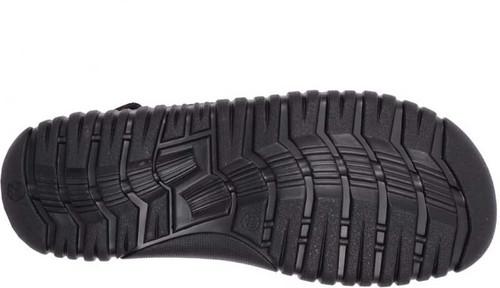 Maplewood Boston Leather Adjustable Strap Sandals Carbon Black